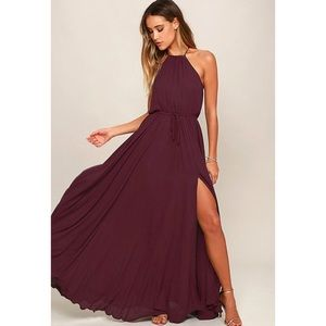 LULU'S Essence of Style Plum Purple Maxi Dress